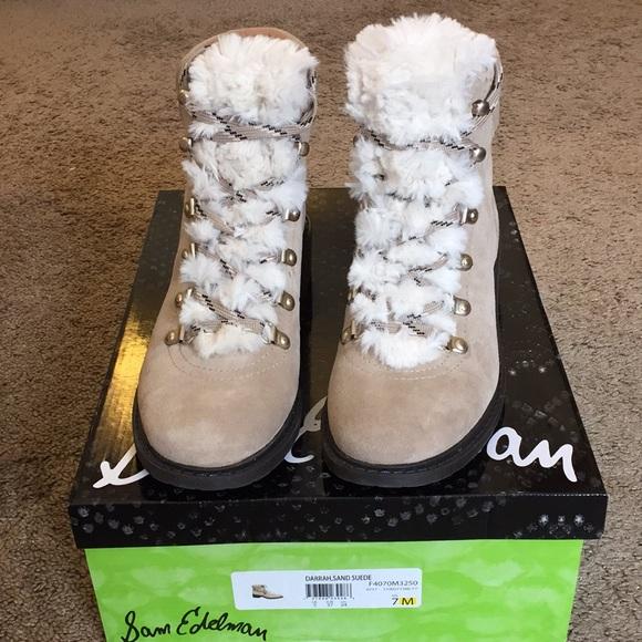 e9948e753 Sam Edelman Darrah 2 lace up boots 7. M 5aba9159caab44badcfdd221